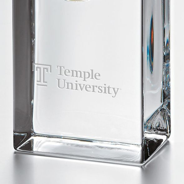 Temple Tall Glass Desk Clock by Simon Pearce - Image 2