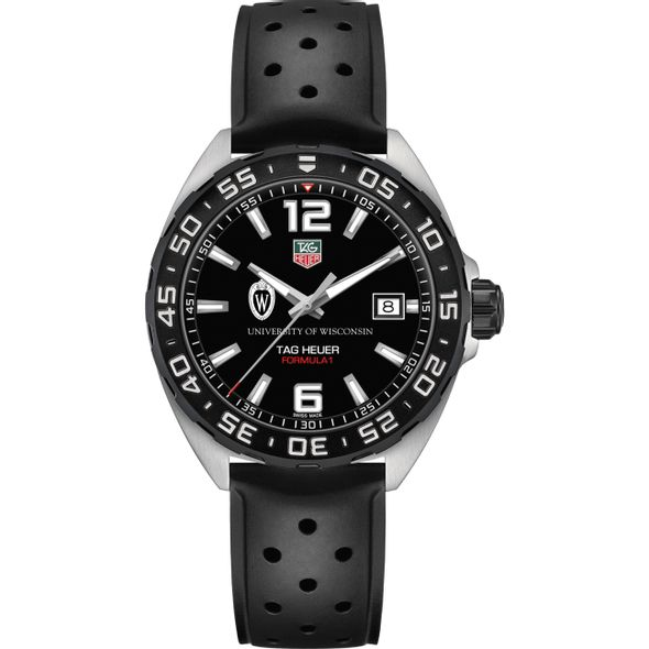 University of Wisconsin Men's TAG Heuer Formula 1 with Black Dial - Image 2