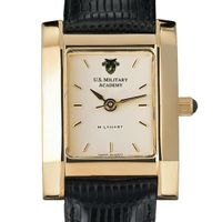 West Point Women's Gold Quad with Leather Strap