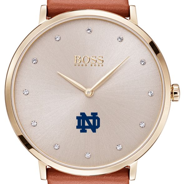 University Of Notre Dame Womens Boss Champagne With Leather