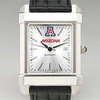 University of Arizona Men's Collegiate Watch with Leather Strap