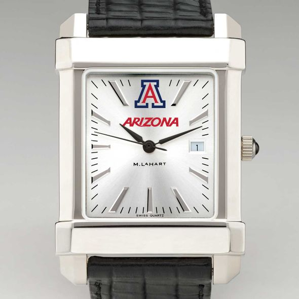 University of Arizona Men's Collegiate Watch with Leather Strap - Image 1