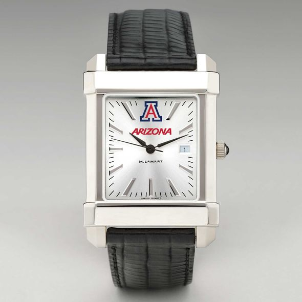 University of Arizona Men's Collegiate Watch with Leather Strap - Image 2