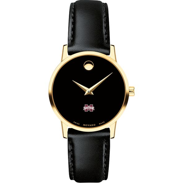 Mississippi State Women's Movado Gold Museum Classic Leather - Image 2