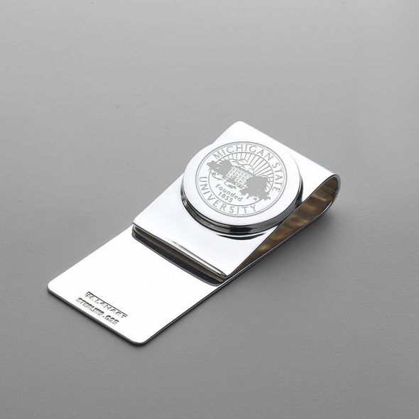 Michigan State Sterling Silver Money Clip