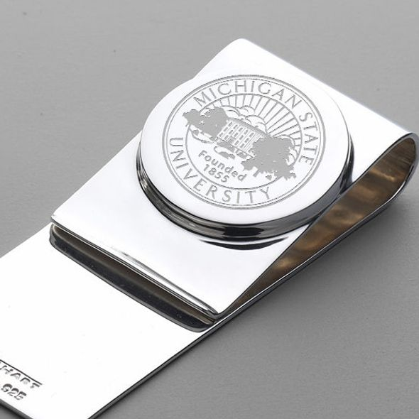 Michigan State Sterling Silver Money Clip - Image 2