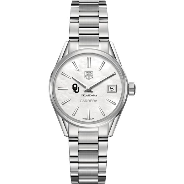 University of Oklahoma Women's TAG Heuer Steel Carrera with MOP Dial - Image 2