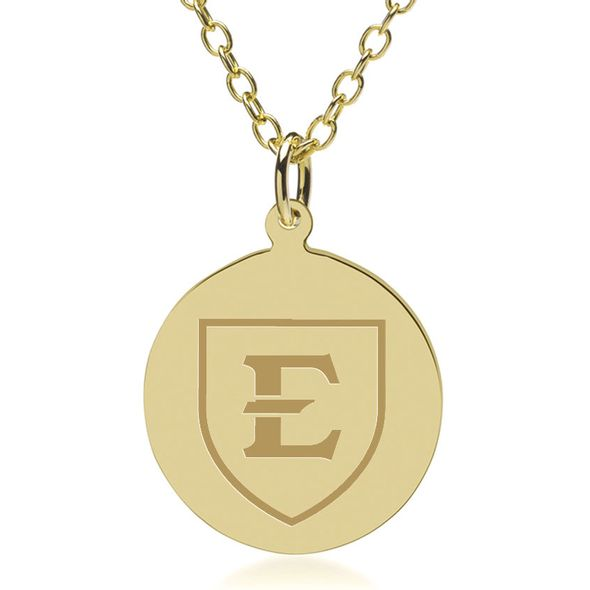 East Tennessee State University 14K Gold Pendant & Chain - Image 1
