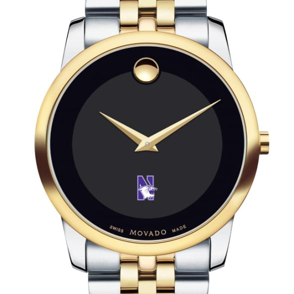 Northwestern Men's Movado Two-Tone Museum Classic Bracelet