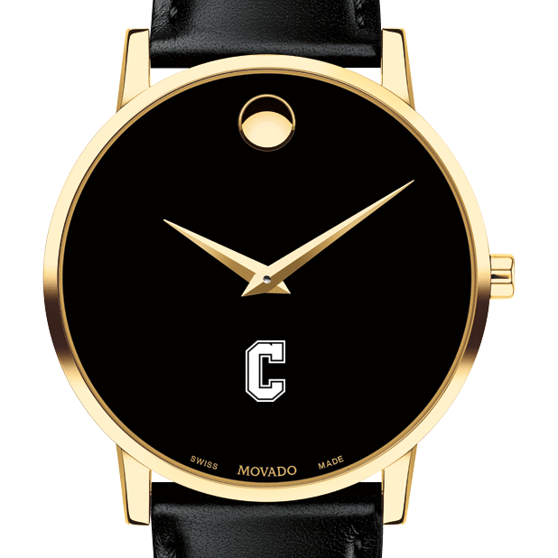 College of Charleston Men's Movado Gold Museum Classic Leather