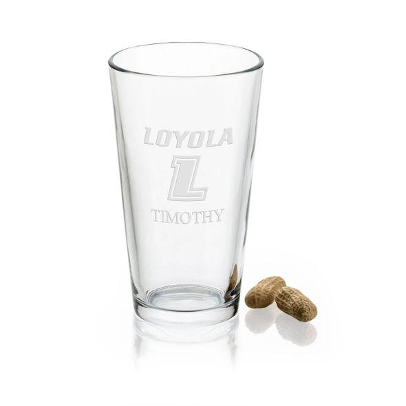 Loyola University 16 oz Pint Glass - Image 1