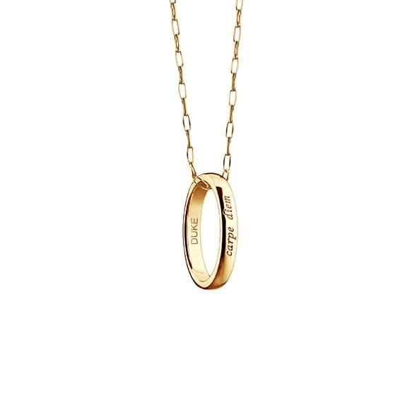 "Duke Monica Rich Kosann ""Carpe Diem"" Poesy Ring Necklace in Gold"