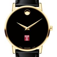 Temple Men's Movado Gold Museum Classic Leather