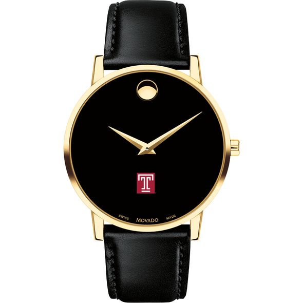 Temple Men's Movado Gold Museum Classic Leather - Image 2