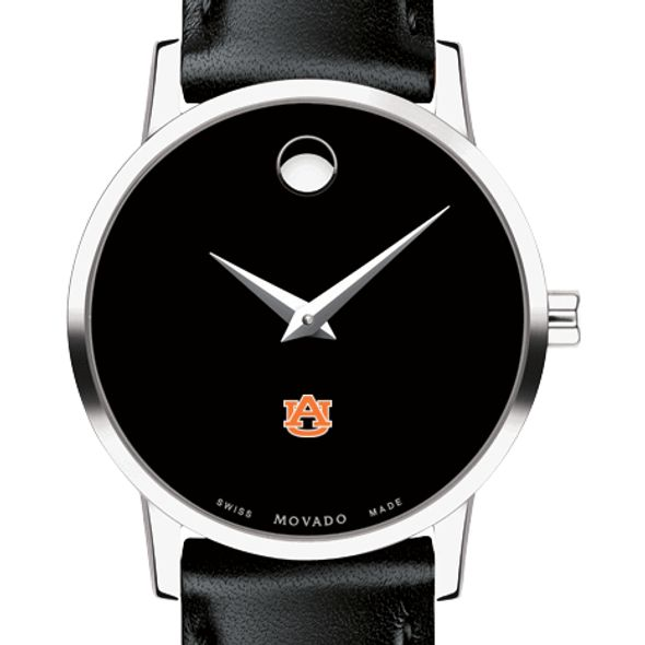 Auburn University Women's Movado Museum with Leather Strap