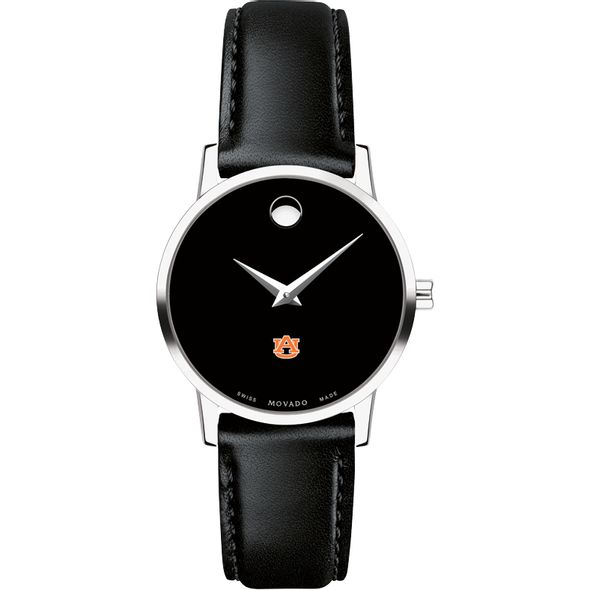 Auburn University Women's Movado Museum with Leather Strap - Image 2