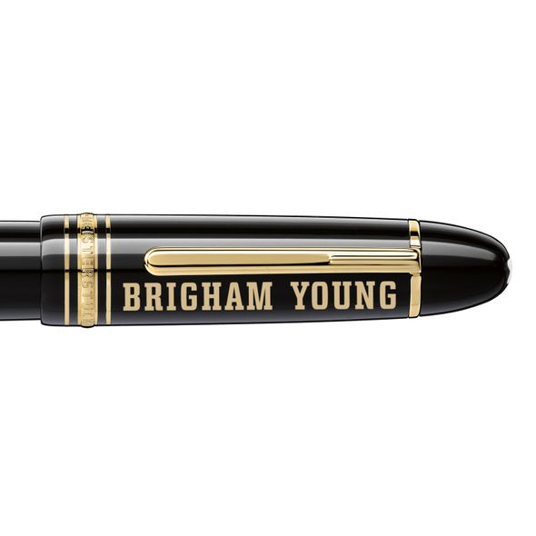 Brigham Young University Montblanc Meisterstück 149 Fountain Pen in Gold - Image 2