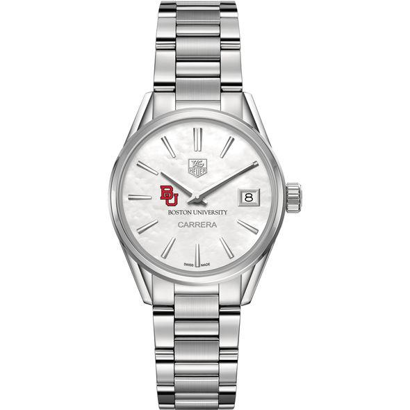 Boston University Women's TAG Heuer Steel Carrera with MOP Dial - Image 2