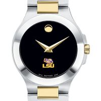 LSU Women's Movado Collection Two-Tone Watch with Black Dial