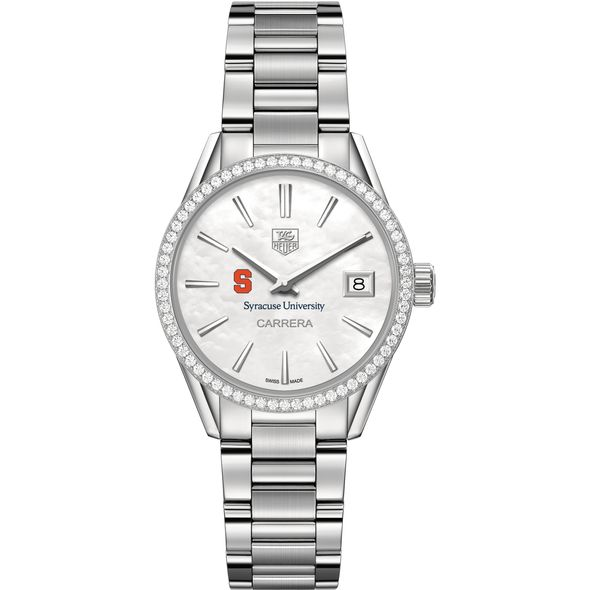 Syracuse University Women's TAG Heuer Steel Carrera with MOP Dial & Diamond Bezel - Image 2