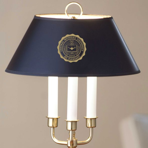 Central Michigan Lamp in Brass & Marble - Image 2