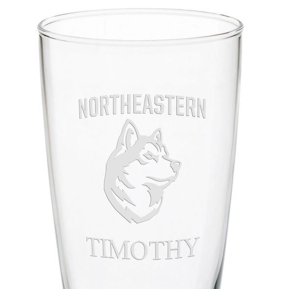Northeastern 20oz Pilsner Glasses - Set of 2 - Image 3