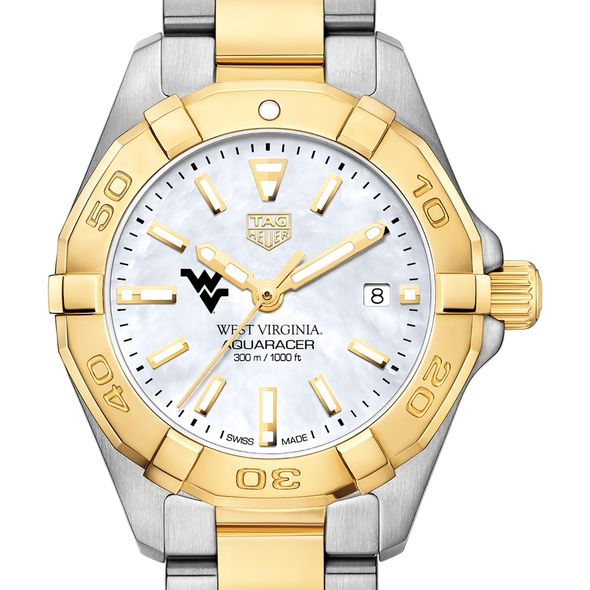 West Virginia University TAG Heuer Two-Tone Aquaracer for Women