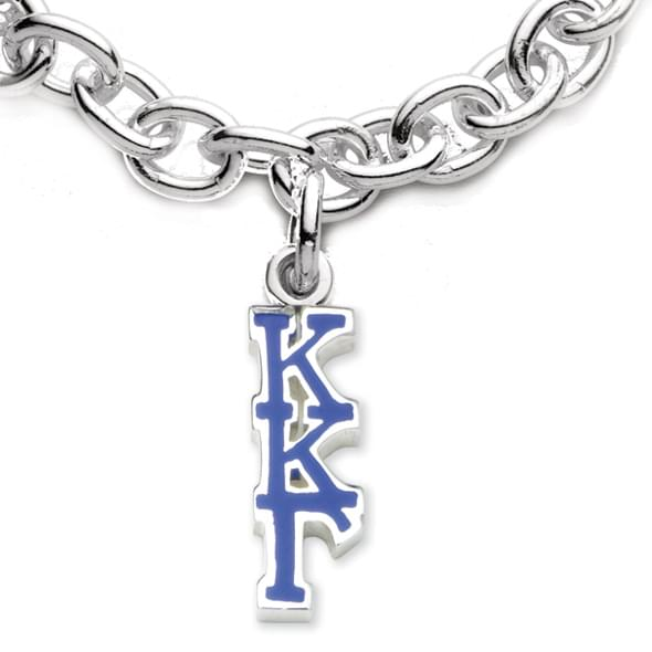 Kappa Kappa Gamma Sterling Silver Charm Bracelet with Letter Charm - Image 2