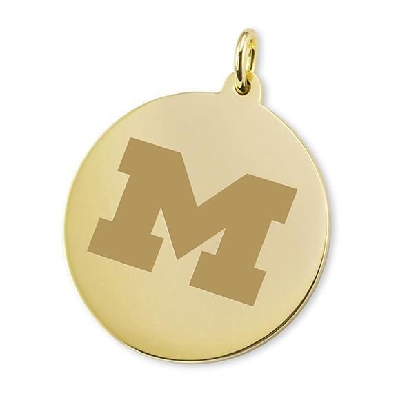 Michigan 14K Gold Charm