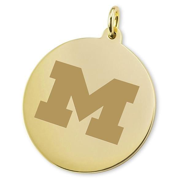 Michigan 14K Gold Charm - Image 2