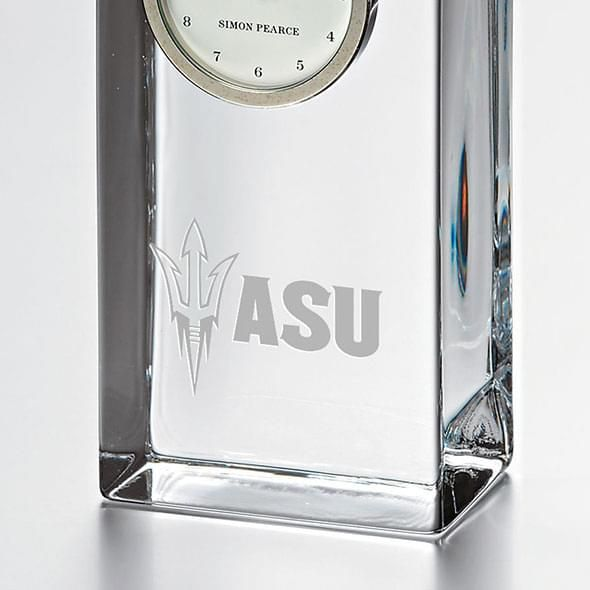 Arizona State Tall Glass Desk Clock by Simon Pearce - Image 2