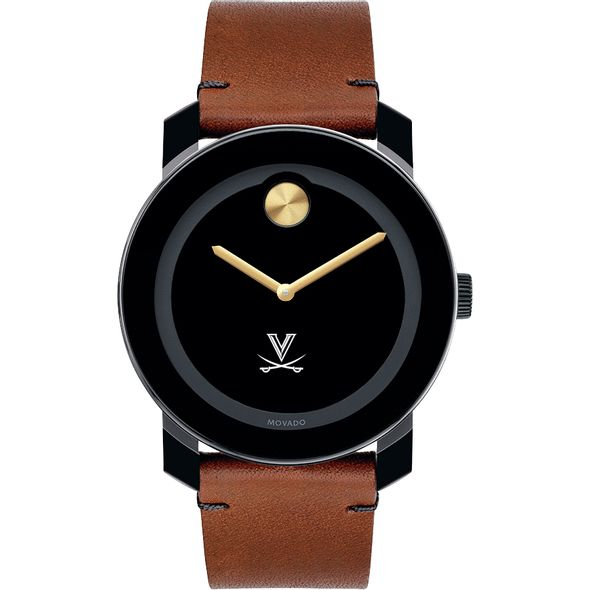 University of Virginia Men's Movado BOLD with Brown Leather Strap - Image 2