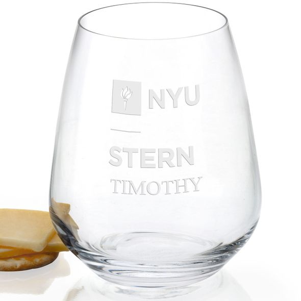 NYU Stern Stemless Wine Glasses - Set of 2 - Image 2