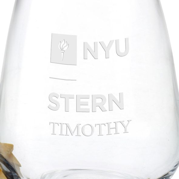 NYU Stern Stemless Wine Glasses - Set of 2 - Image 3