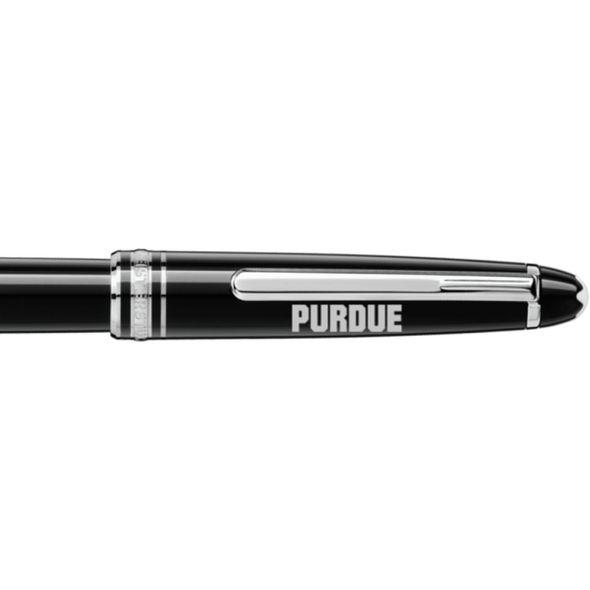 Purdue University Montblanc Meisterstück Classique Rollerball Pen in Platinum - Image 2