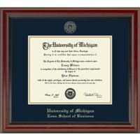 Michigan Ross Diploma Frame, the Fidelitas