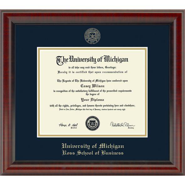 Michigan Ross Diploma Frame, the Fidelitas - Image 1