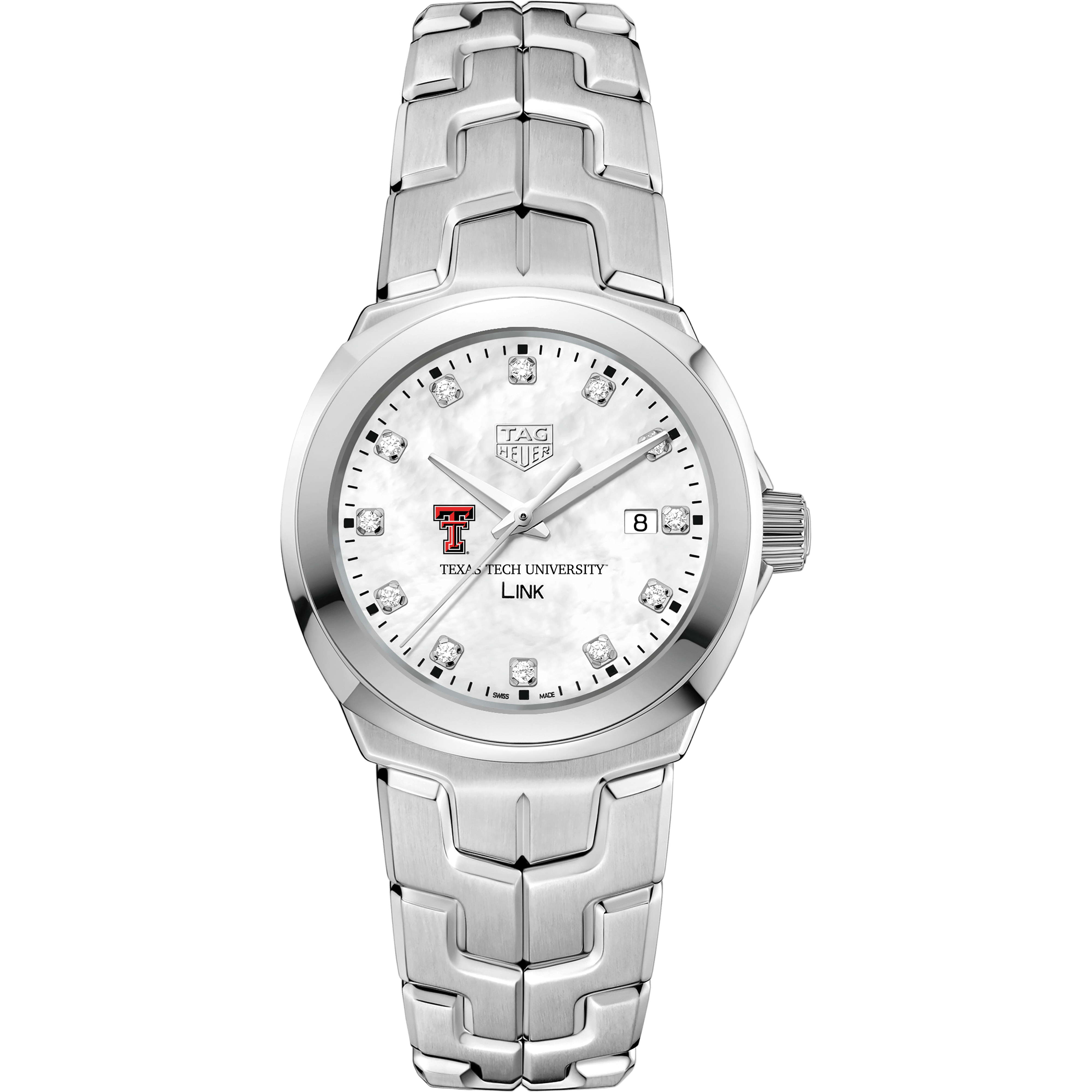 Texas Tech TAG Heuer Diamond Dial LINK for Women - Image 2