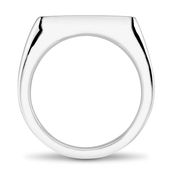 Michigan State Sterling Silver Square Cushion Ring - Image 4