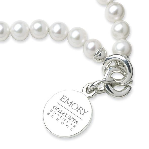Emory Goizueta Pearl Bracelet with Sterling Silver Charm - Image 2