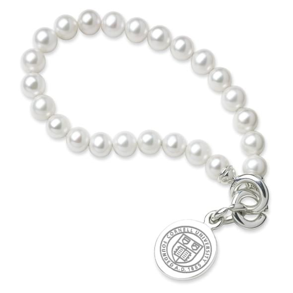 Cornell Pearl Bracelet with Sterling Silver Charm