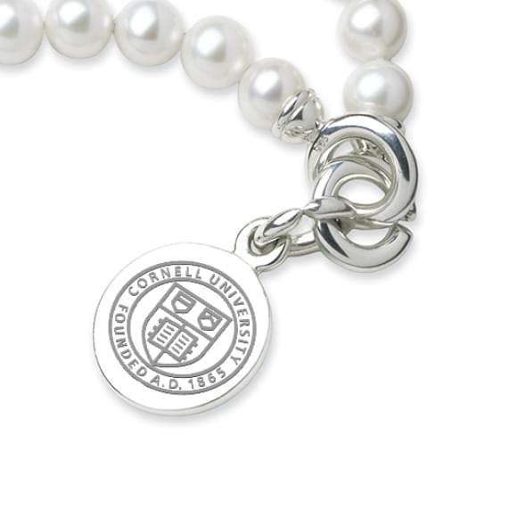 Cornell Pearl Bracelet with Sterling Silver Charm - Image 2