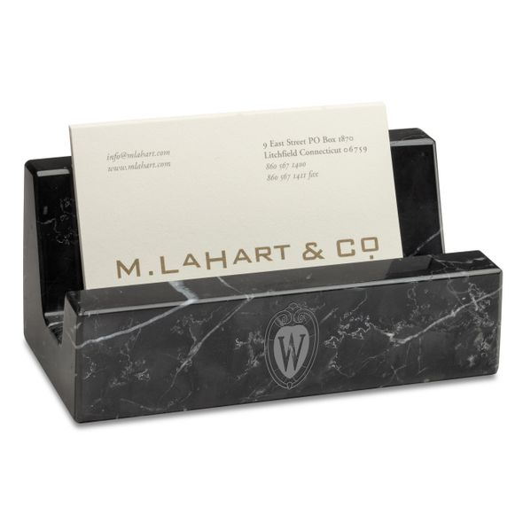 Wisconsin Marble Business Card Holder