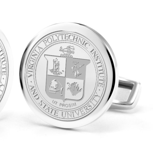 Virginia Tech Cufflinks in Sterling Silver - Image 2