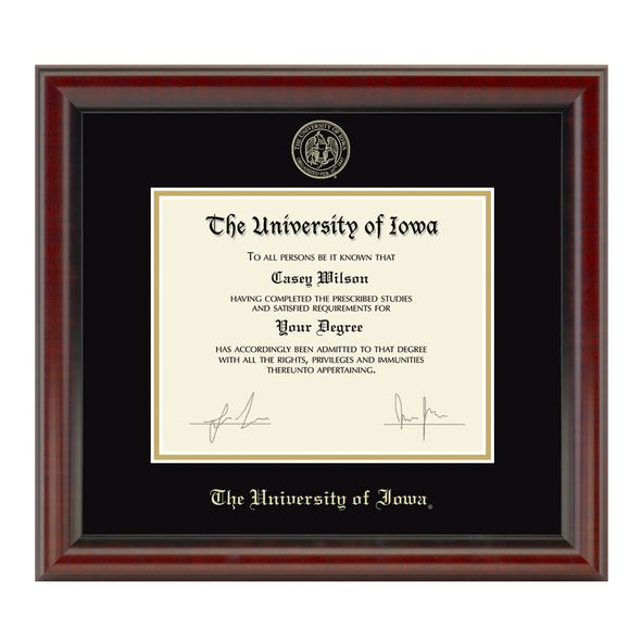 University of Iowa Diploma Frame, the Fidelitas