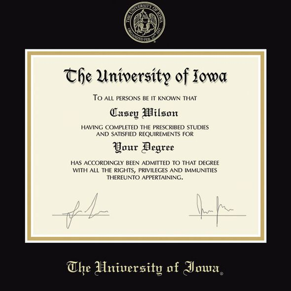 University of Iowa Diploma Frame, the Fidelitas - Image 2