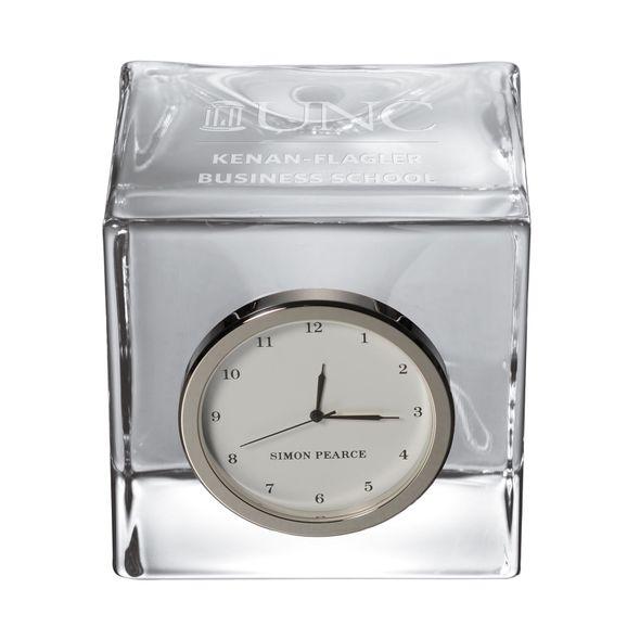 UNC Kenan-Flagler Glass Desk Clock by Simon Pearce