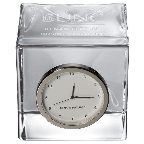 UNC Kenan-Flagler Glass Desk Clock by Simon Pearce - Image 2