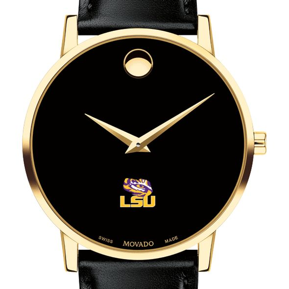 Louisiana State University Men's Movado Gold Museum Classic Leather - Image 1