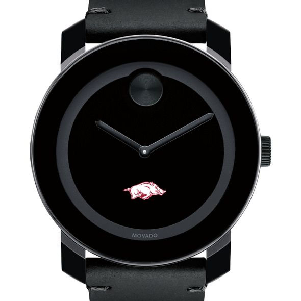 University of Arkansas Men's Movado BOLD with Leather Strap